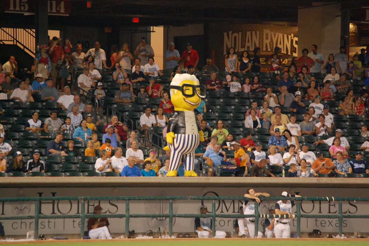 The ZOOperstars entertained fans at Whataburger Field on Friday night (photo by Kristen Shumbera)
