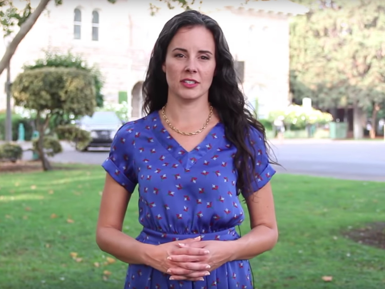Sonoma City Council member Rachel Hundley, shown here in a still from a video she made calling out her online harassers.