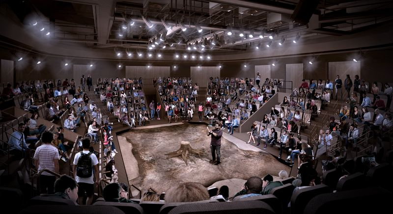 An architectural rendering of Steppenwolf's new Round Theater, which will make its debut in Spring 2022.