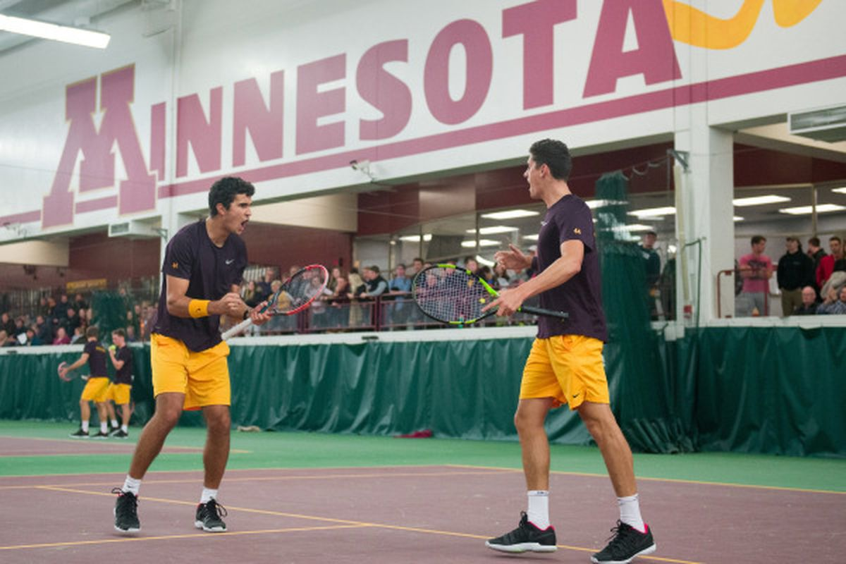 The Gophers doubles team of Felix Corwin and Jonas Kristovic will try and  keep their hot streak going. gophersports.com
