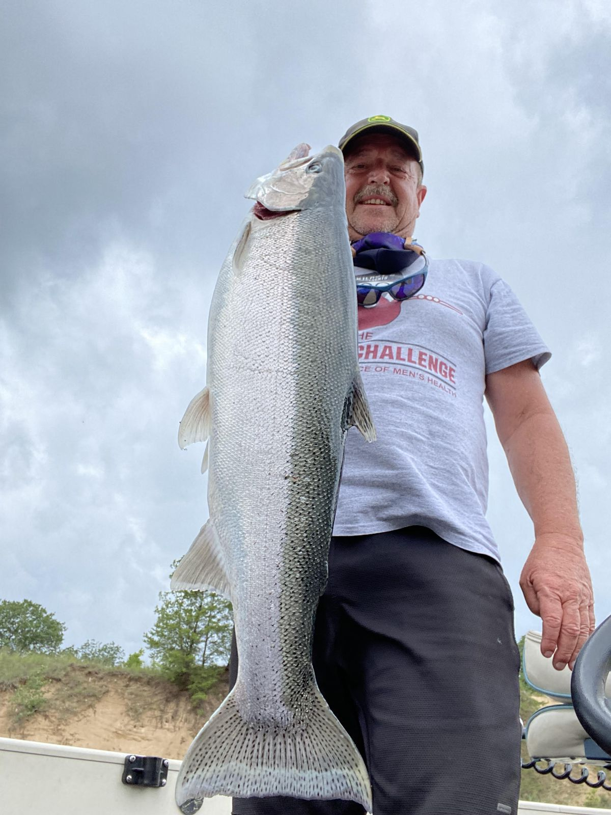 Robert Buckmaster caught a big steelhead in Indiana for Fish of the Week. Provided