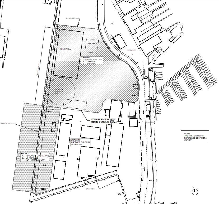 Diagram of Terminal Island facility