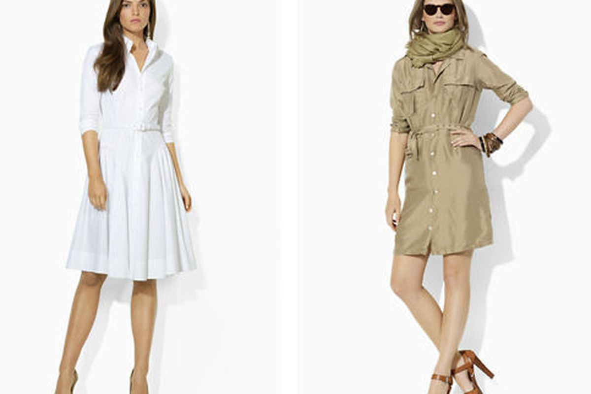 Two of the Ralph Lauren Blue Label spring 2012 dresses on offer for 25% off