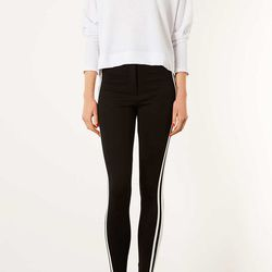 """These side stripe leggings are perfect for those looking to give their legs full coverage. <b>Topshop</b> multi side strip treggings, $56 at <a href=""""http://us.topshop.com/en/tsus/product/clothing-70483/leggings-71175/multi-side-stripe-treggings-2017049?b"""