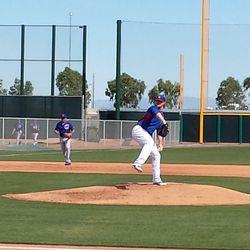 Jon Lester throws -