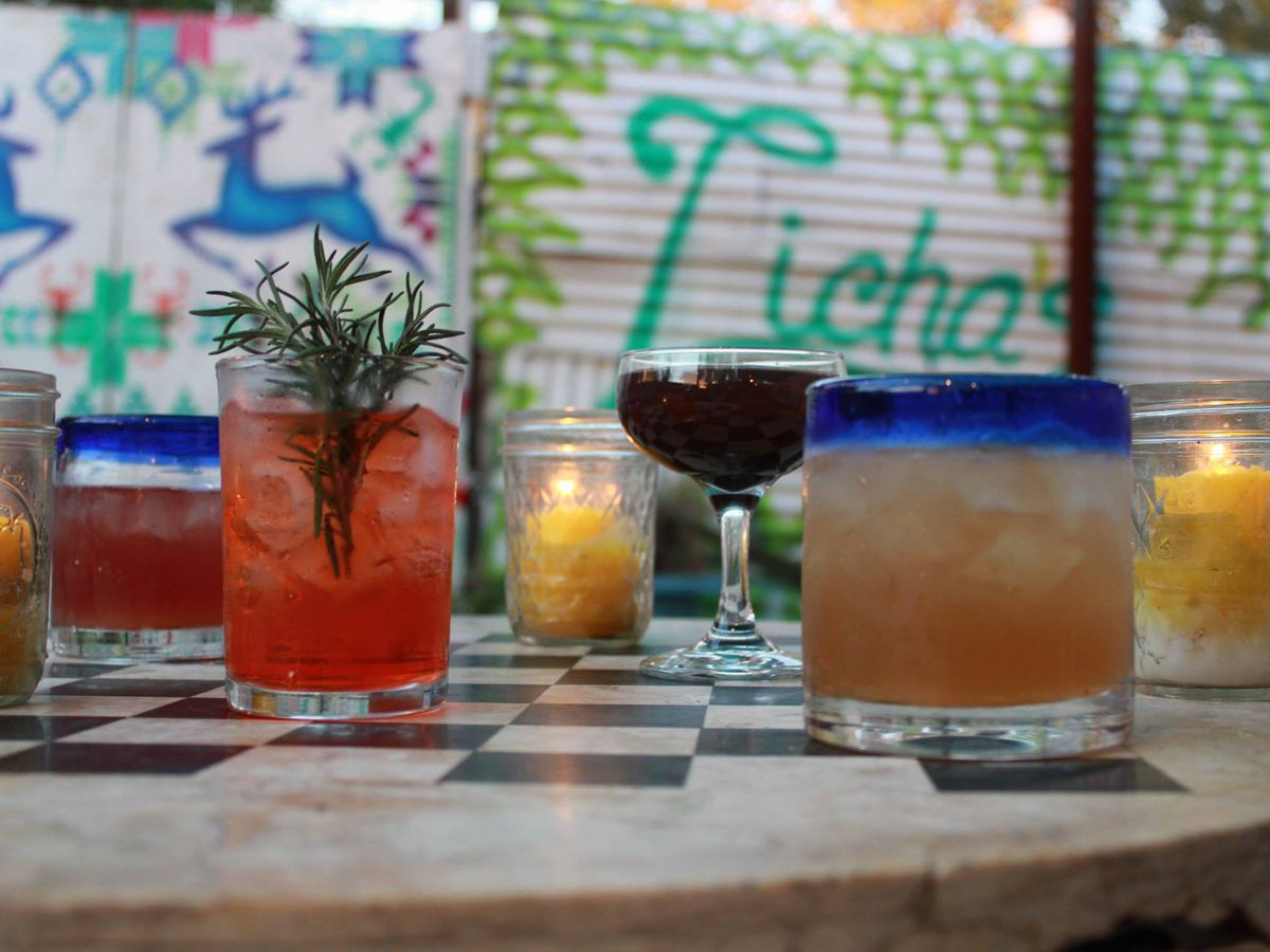 Drinks from Licha's Cantina