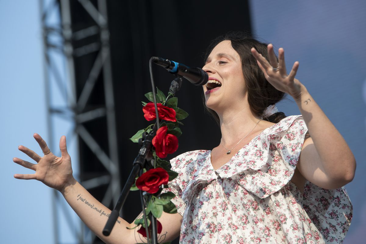 Waxahatchee performs on the Green Stage at Pitchfork music festival at Union Park, Saturday, Sept. 11, 2021.