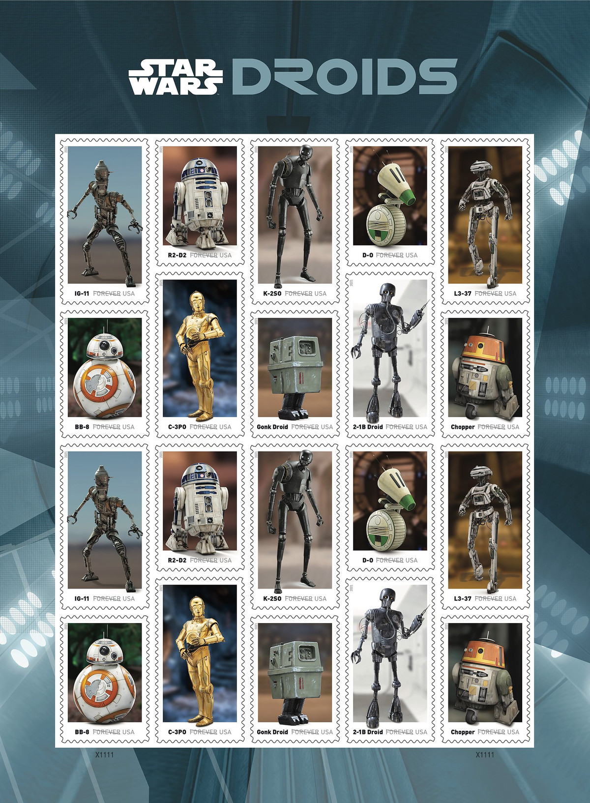 USPS and Lucasfilm will team up for a new set of stamps centered around 'Star Wars' characters.
