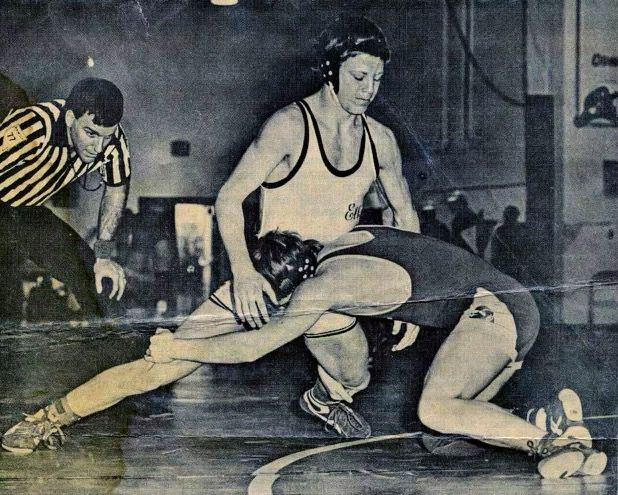 Chris McLeod, top, won three state wrestling titles in Nevada.
