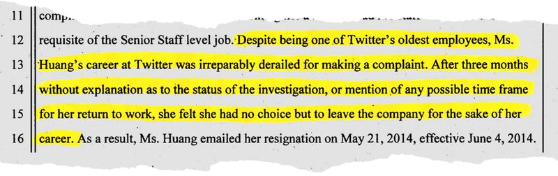 "Court documents show Tina Huang arguing that her career was ""irreparably derailed."""
