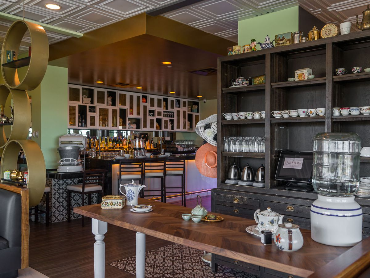 The tea room at The Stove