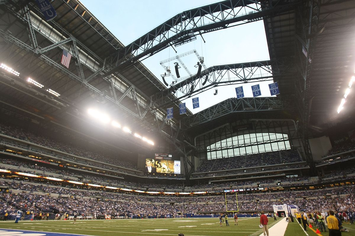 A general view of the interior of Lucas Oil Stadium