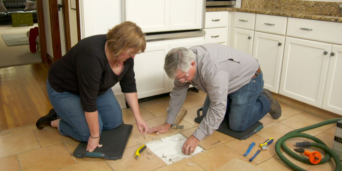 How To Replace A Ed Floor Tile