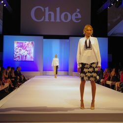 Runway show featuring Chloé's S/S 2014 collection at Elyse Walker's ninth annual Pink Party.