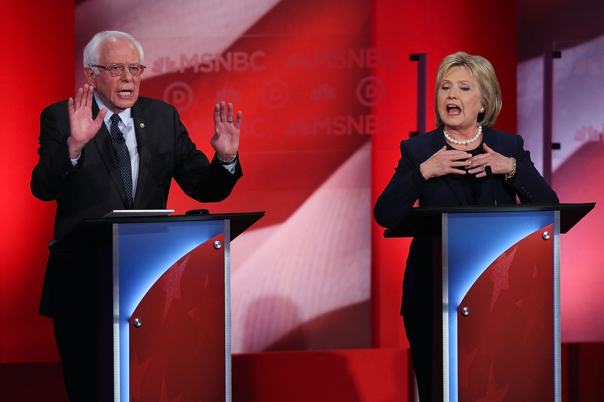 """Sanders: """"Stop!"""" Clinton: """"Collaborate and listen."""""""