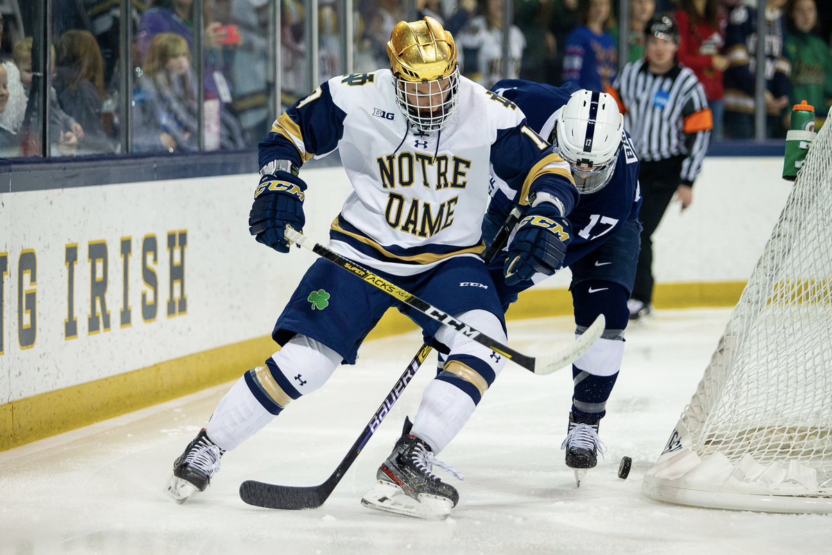 Notre Dame Hockey: Irish Aim For Comeback but Nittany Lions Prevail 4-2
