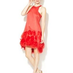 Vera Wang silk organza rosette shift dress, original retail price: $495, Gilt City Warehouse sale price: $50