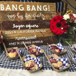 Bang Bang Pie was serving a fresh fruit crisp. | Sun-Times Staff