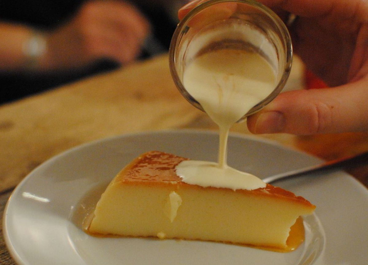 Sweet flan with sherry cream at L'Oculto, one of the best places to eat in Lewisham