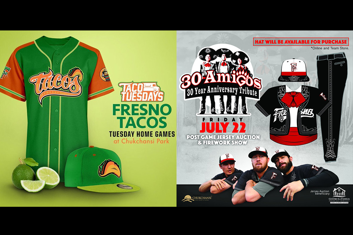 7afa335727d Last season the Houston Astros Triple A affiliate Fresno Grizzlies took the  minor league baseball world Fresno Grizzlies Tacos Taco Truck Throwdown  Jersey ...