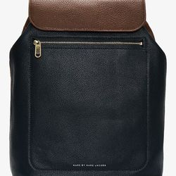 """<strong>Marc by Marc Jacobs</strong> Pebbled Leather Slice & Dice Backpack in Peacock Green, <a href=""""http://www.marcjacobs.com/store/detail/291043"""">$458</a> at Marc by Marc Jacobs Men's"""