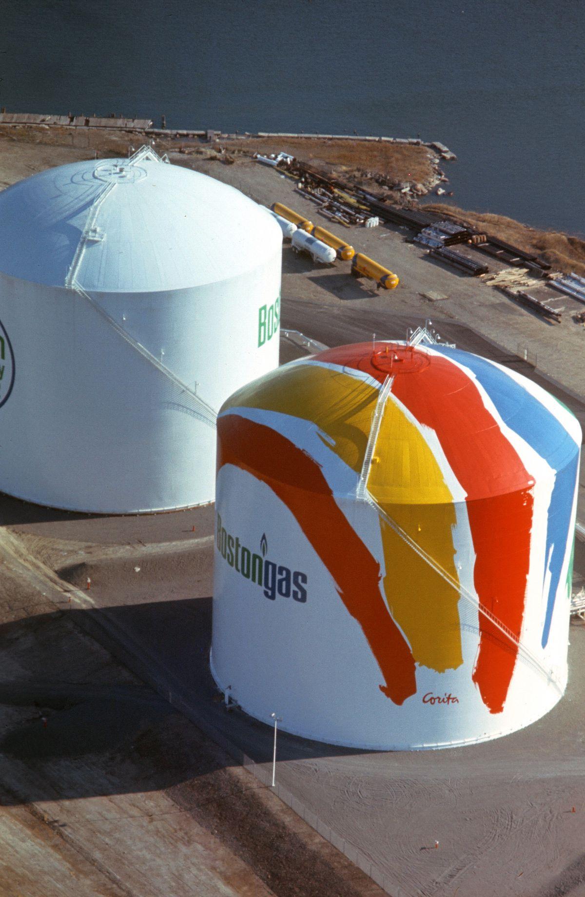 'sister Corita' Bostongas Storage Tanks