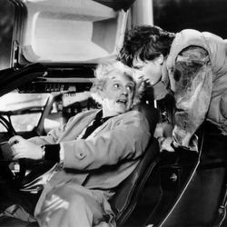 """Christopher Lloyd and Michael J. Fox in """"Back to the Future."""