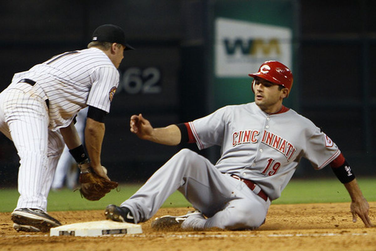Taking that extra base is just another thing that Joey Votto is awesome at.