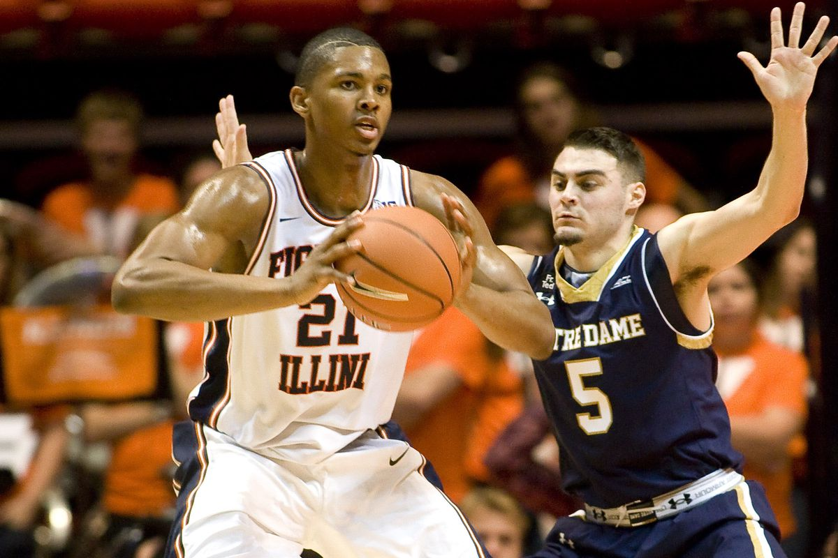Malcolm Hill in Illinois' loss to Notre Dame
