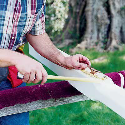 Man Measures Flagpole