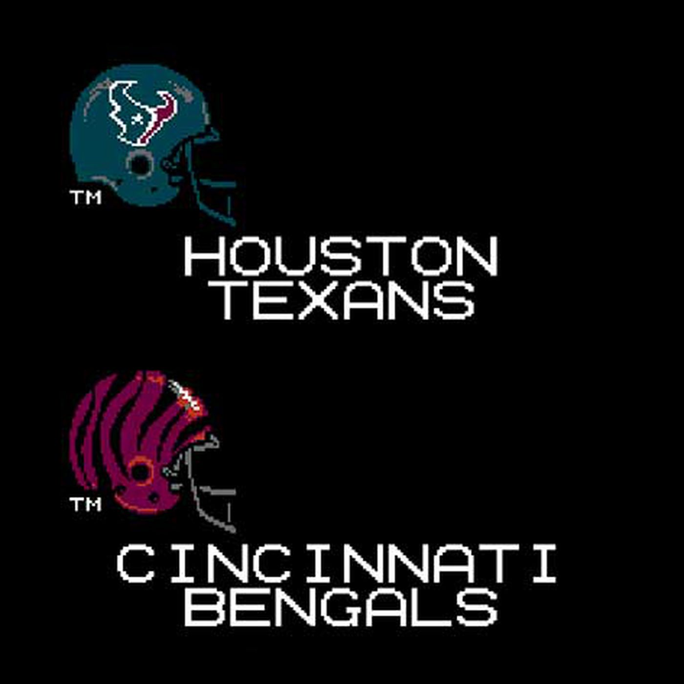 Week 10 Houston Texans at Cincinnati Bengals: Tecmo Bowl
