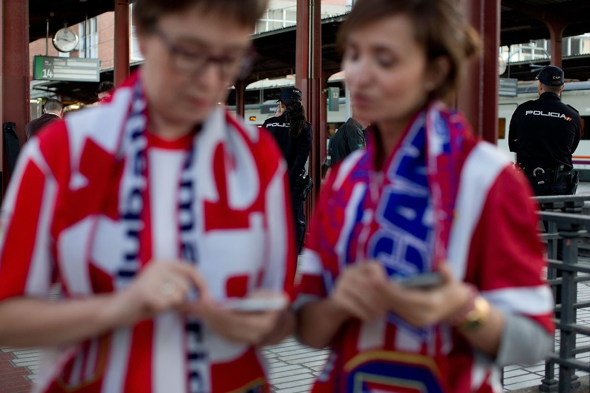 Atletico And Real Fans Prepare For Champions League Final in Madrid