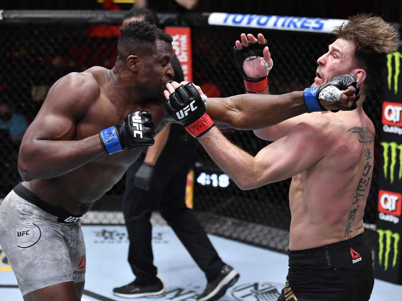 KO!!! Francis Ngannou vs Stipe Miocic 2 full fight video highlights from UFC 260 - Bloody Elbow