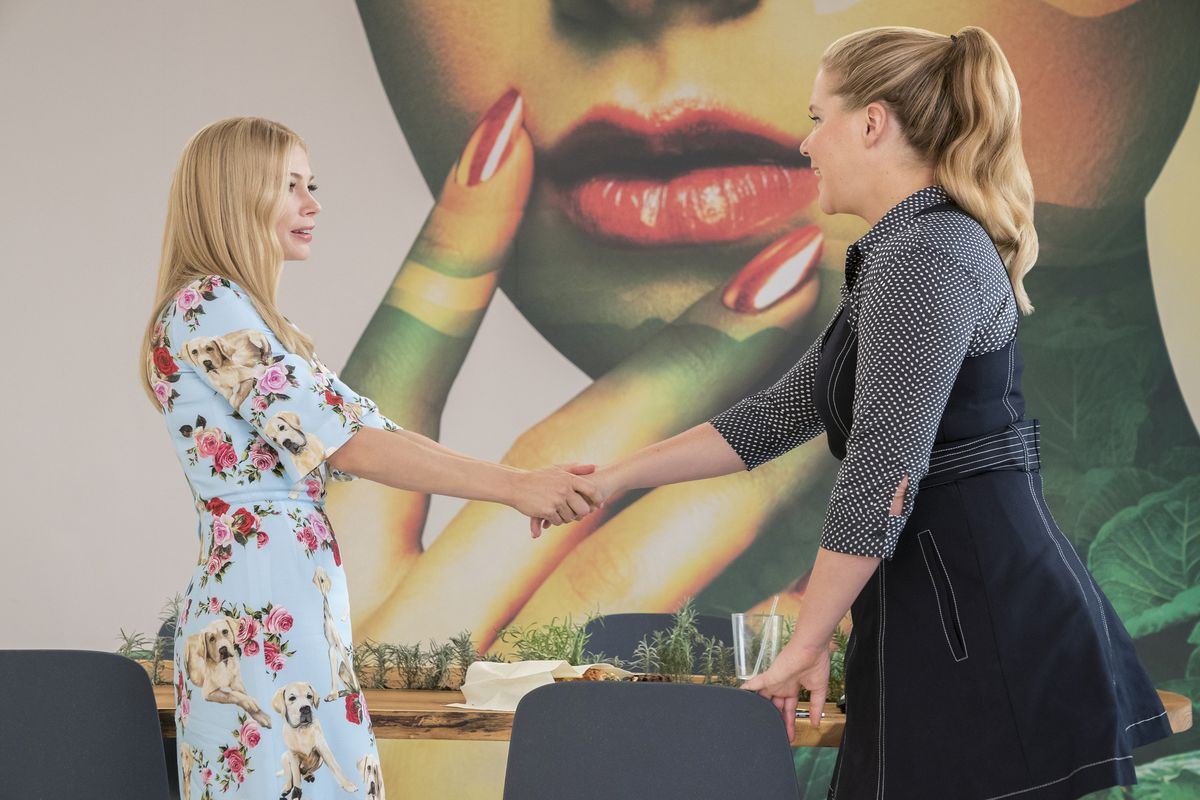 0f7a9dc1 Michelle Williams and Amy Schumer in I Feel Pretty. Photo: Courtesy of  STXfilms