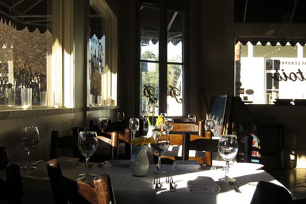The dining room at Patois.