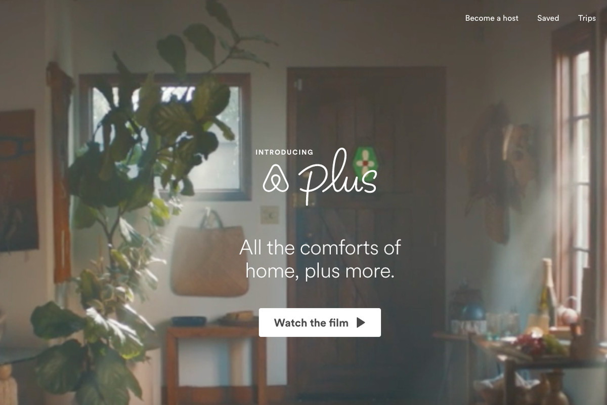 Airbnb Plus gives users the option to book hotel-quality accommodation