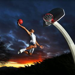 Frank Jackson of Lone Peak High School is the 2016 Deseret News Mr. Basketball. He is photographed in Salt Lake City Wednesday, March 16, 2016.