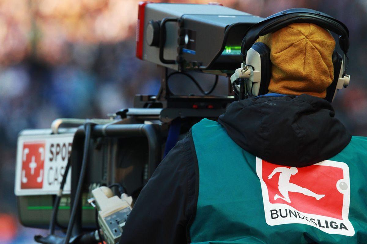 BERLIN, GERMANY - OCTOBER 22:  A TV camera is seen during the Bundesliga match between Hertha BSC Berlin and FSV Mainz 05 at Olympic Stadium on October 22, 2011 in Berlin, Germany.  (Photo by Joern Pollex/Bongarts/Getty Images)