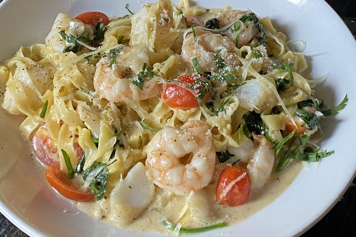 Seafood tagliatelle from GM's Pasta Place