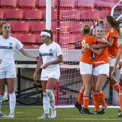 Ogden defeats Ridgeline 2-1 and takes home the crown in the 4A girls state championship at Rio Tinto Stadium in Sandy on Friday, Oct. 25, 2019.