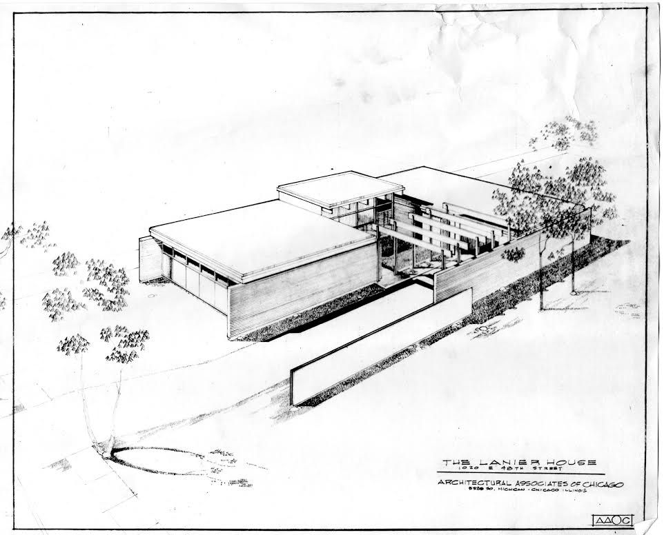 Roger Margerum designed this modernist home on E. 48th St.