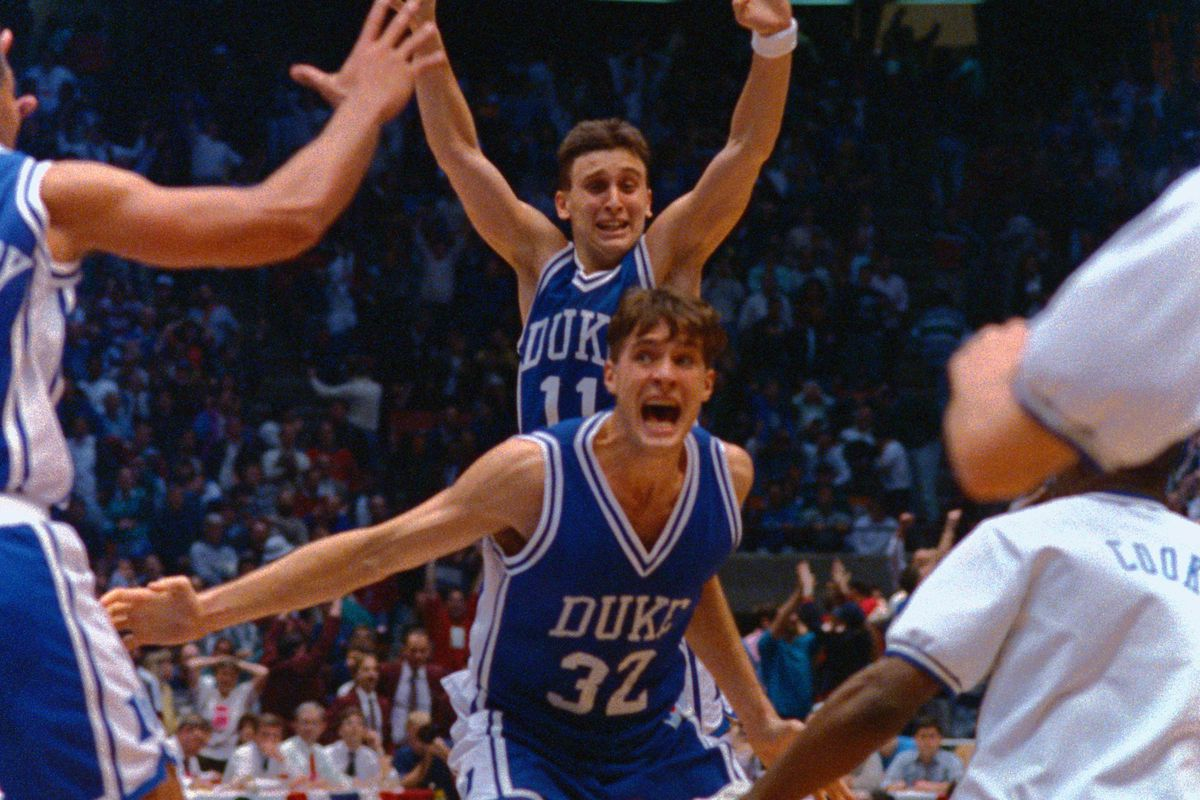 Christian Laettner after the 1990 UConn buzzer beater