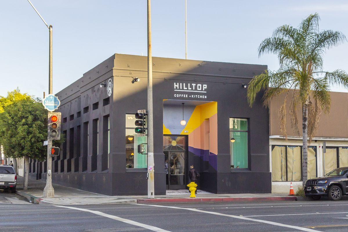 Exterior shot of Hilltop Coffee + Kitchen in Inglewood