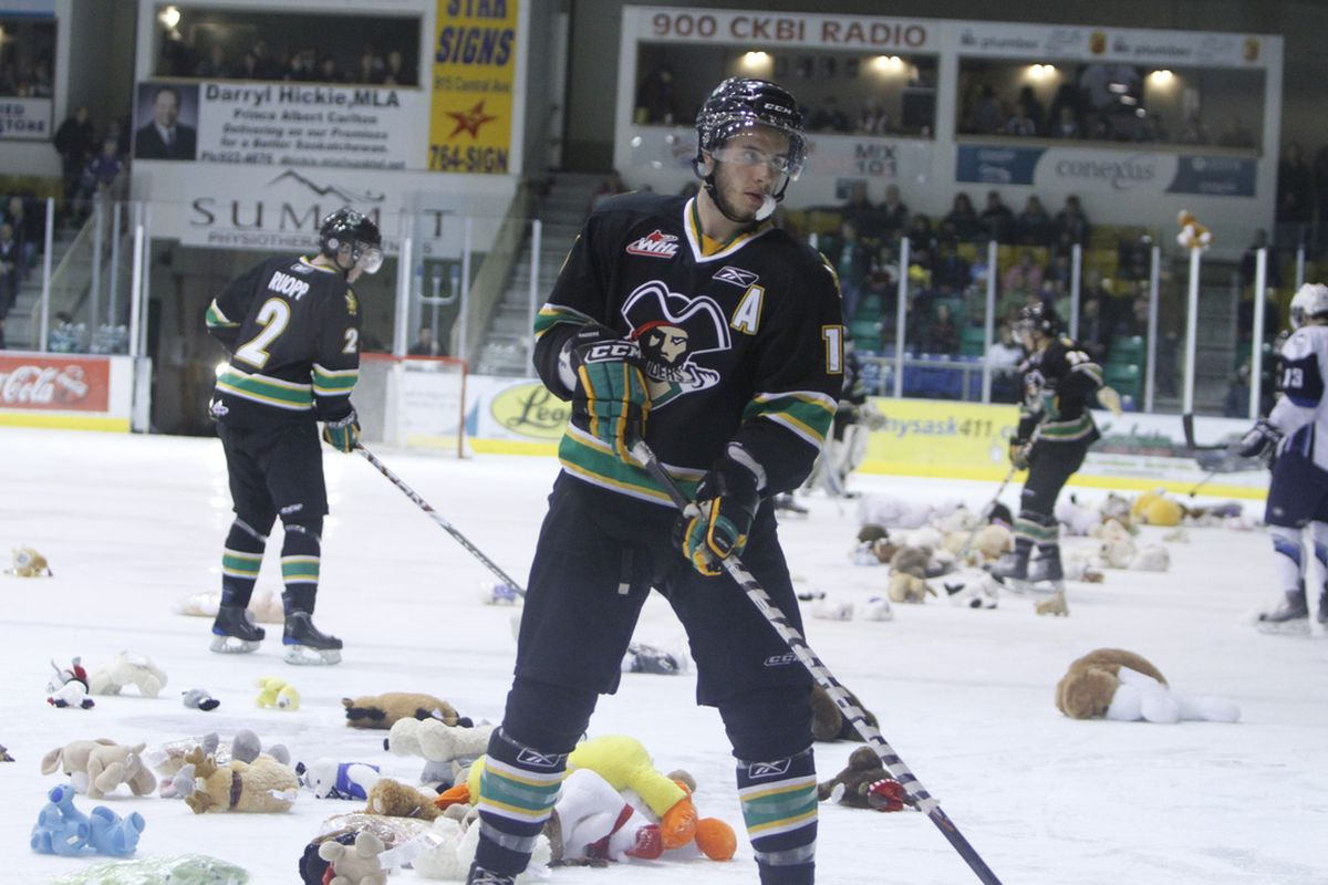 Yes, that's absolutely a picture from the Teddy Bear Toss game. Because shut up, that's why.