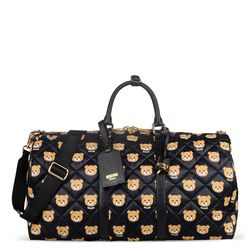 Moschino printed quilted nylon weekend bag, $1,295