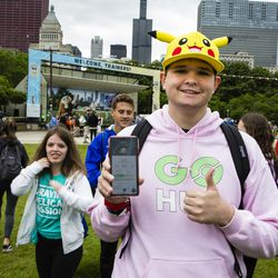 Griffin Kilstrom came from Arizona to attend the 2019 Pokémon Go Fest, Grant Park, Thursday, June 13th, 2019.