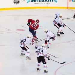 Brouwer Covered by Blackhawks
