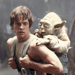 """Mark Hamill as Luke Skywalker and Yoda in """"Star Wars: Episode V — The Empire Strikes Back"""" (1980), one of the many films from the 1980s that the hit Netflix show """"Stranger Things"""" references. The second season of """"Stranger Things"""" will be available on Oct. 27."""