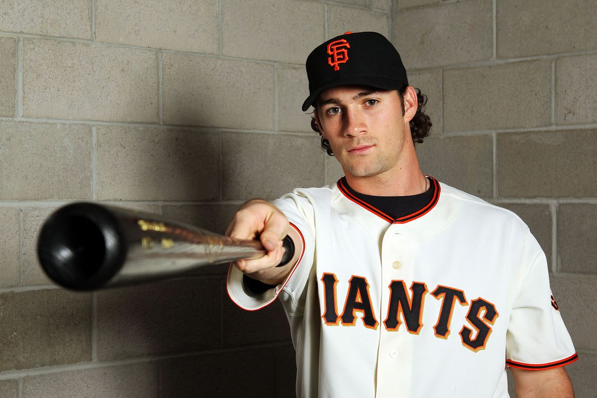 SCOTTSDALE, AZ - MARCH 01:  Charlie Culberson #33 of the San Francisco Giants poses during spring training photo day on March 1, 2012 in Scottsdale, Arizona.  (Photo by Jamie Squire/Getty Images)