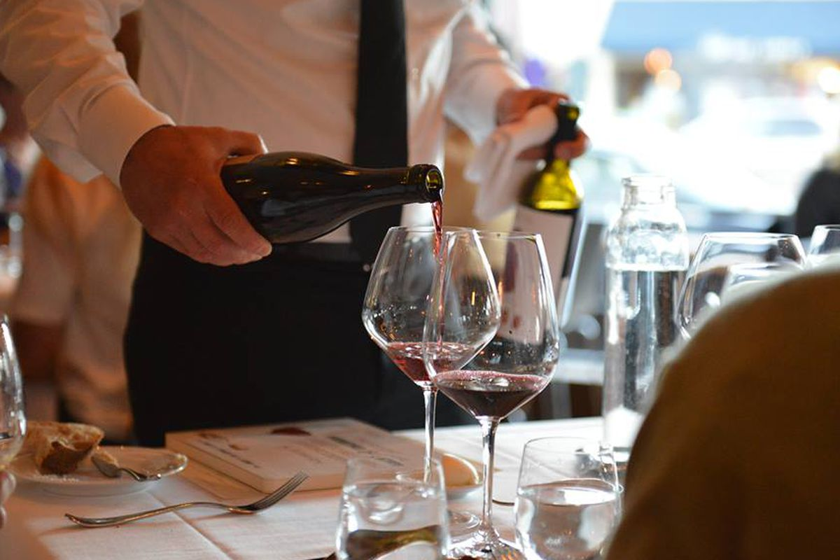 Wine service at Frasca Food and Wine
